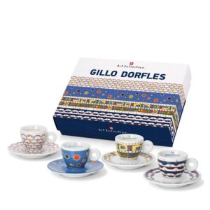 set 4 tazzine illy art collection gillo dorfles