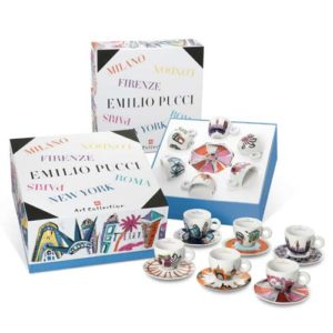 set 6 tazzine illy art collection emilio pucci blu