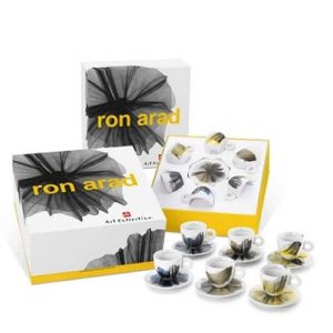 set 6 tazzine illy art collection ron arad