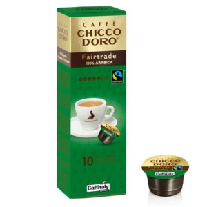 Capsule originali caffè Caffitaly Chicco d'oro fairtrade 100% arabica