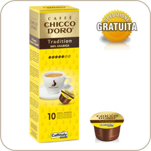 Caffitaly Caffe Chicco D'Oro Tradition 100% Arabica 10 Capsule