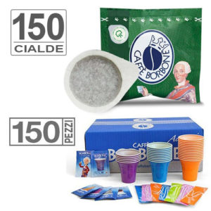 Borbone Decaffeinato 150 Cialde con Kit Accessori