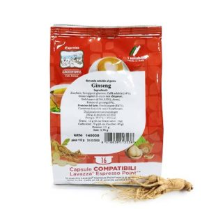 Gattopardo ginseng solubile in capsule compatibili lavazza espresso point