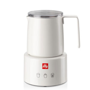 Illy Montalatte Elettrico Milk Frother Cappuccinatore acciaio inox bianco touch